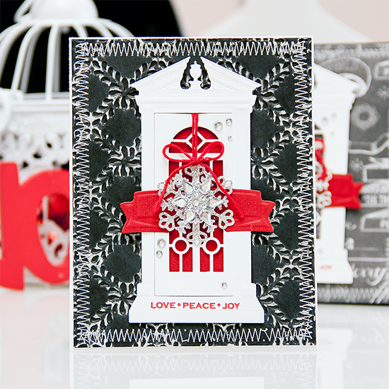 Yana Smakula | Spellbinders Holiday Card